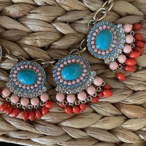 Statement Beaded Circle Symmetrical Gold Necklace